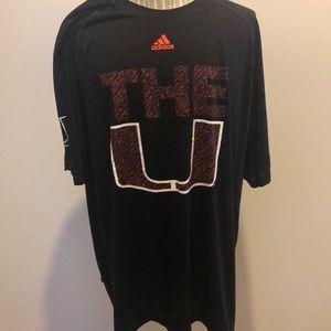 Miami Hurricanes Men t shirt 3XL